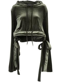 cropped tied hem hoodie Y / Project