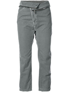 cropped turn-down waist trousers NSF