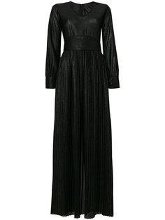 плиссированное платье металлик  Federica Tosi