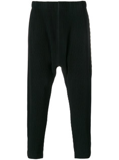 брюки с полосатым узором Homme Plissé Issey Miyake