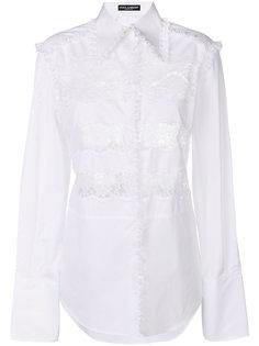 рубашка с кружевной вставкой  Dolce & Gabbana