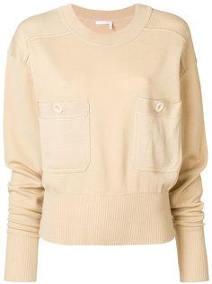 свитер с отделкой на кармане  Chloé