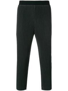 укороченные брюки  с полосатым узором Homme Plissé Issey Miyake