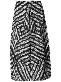 укороченные плиссированные брюки с узором Pleats Please By Issey Miyake