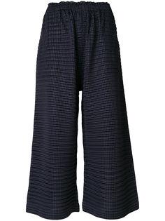 фактурные укороченные джинсы Pleats Please By Issey Miyake