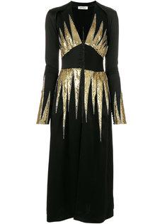 платье с V-образным вырезом Attico