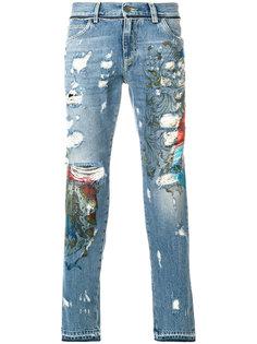 джинсы скинни с потертой отделкой Dolce & Gabbana