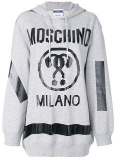 свободная толстовка с вопросительными знаками  Moschino