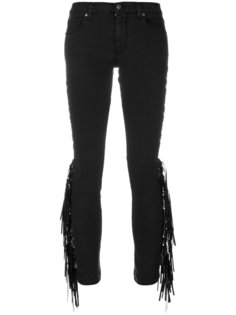 джинсы скинни с бахромой  Gaelle Bonheur