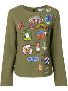 блузка с разноцветным принтом  Mira Mikati