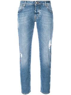 состаренные укороченные джинсы  Gaelle Bonheur