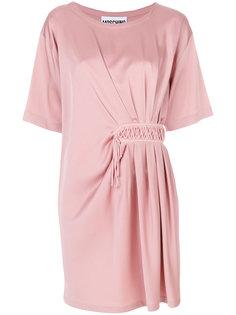 присборенное асимметричное платье мини  Moschino