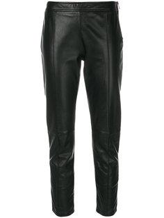 байкерские брюки с завышенной талией  Moschino