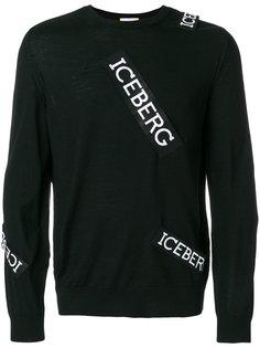 джемпер с заплатками-логотипами Iceberg