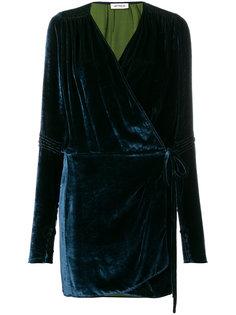 приталенное платье с запахом  Attico