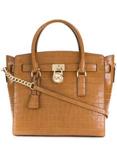 сумка-тоут с эффектом крокодиловой кожи Michael Michael Kors