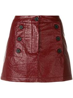 А-образная мини-юбка с пуговицами  8pm