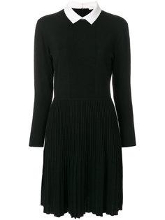трикотажное платье с контрастным воротником  Tory Burch