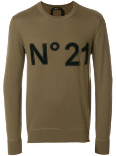 джемпер с заплаткой с логотипом Nº21
