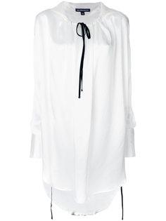 длинная блузка со шнурком на воротнике  Ann Demeulemeester