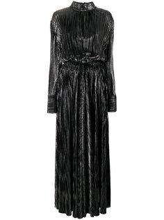 вечернее платье металлик  Pierre Balmain