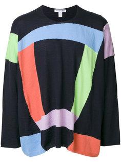 джемпер вязки интарсия Comme Des Garçons Shirt