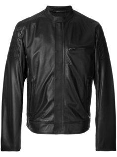 кожаная куртка с воротником-стойкой Dolce & Gabbana
