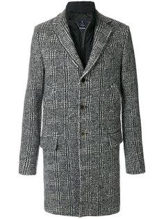 многослойное однобортное пальто  Fay