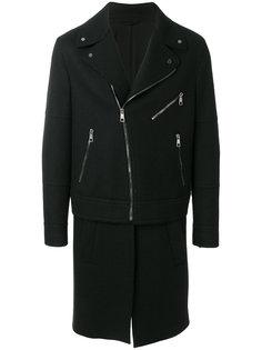 байкерская куртка комбинированного кроя Neil Barrett