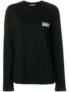 футболка с длинными рукавами и заплаткой с логотипом Hyein Seo