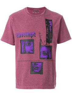 футболка с комбинированным принтом Cav Empt