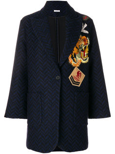 пальто с вышитыми нашивками  P.A.R.O.S.H.