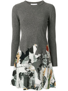 платье со вставками  Moschino