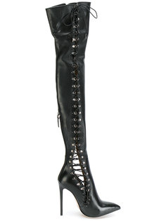 lace-up thigh high boots Gianni Renzi
