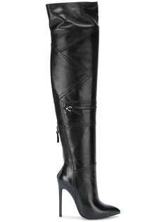 thigh high panelled boots Gianni Renzi