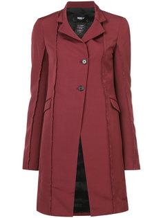 raw edge coat Yang Li
