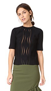 Carven Wave Effect Sweater