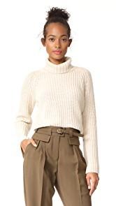 525 America Shaker Turtleneck Bell Sleeve Sweater
