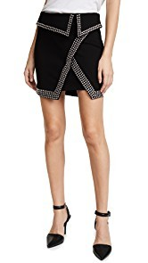 LAGENCE Amelie Studded Wrap Skirt