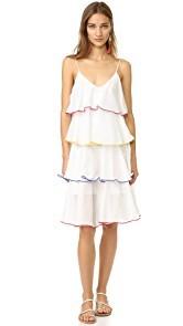 Lisa Marie Fernandez Midi Tier Flounce Dress