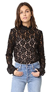 WAYF Berklin Lace Top