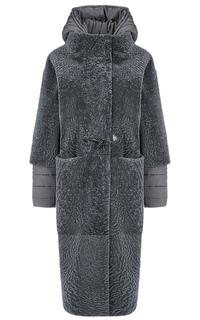 Пальто из овчины со съемными рукавами и капюшоном Virtuale Fur Collection