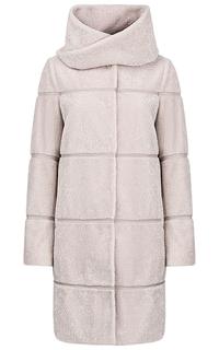 Пальто из вязаной овчины со съемным шарфом из овчины Virtuale Fur Collection