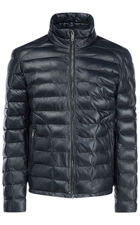 Зимняя кожаная куртка на искусственном пуху Urban Fashion for men
