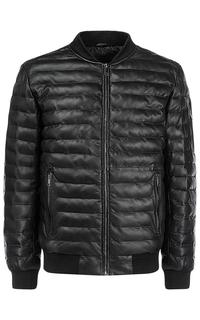 Зимний кожаный бомбер на искусственном пуху Urban Fashion for men