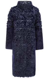 Утепленное пальто из овчины и меха козлика Virtuale Fur Collection