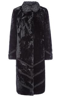Пальто из овчины с отделкой каракулем Снежная Королева