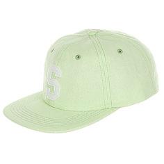 Бейсболка с прямым козырьком Stussy Felt S Canvas Strapback Cap Green