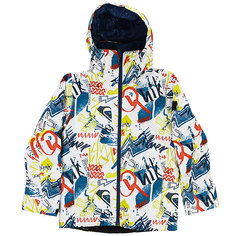 Куртка утепленная детская Quiksilver Mission Pr Yo J B Snjt White Youth Thunderb