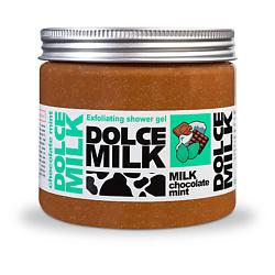 DOLCE MILK Гель-скраб для душа Молоко, Шоколад и Мята 400 мл